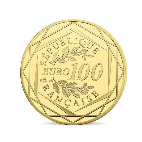 UEFA EB 2016 arany érme hátoldal