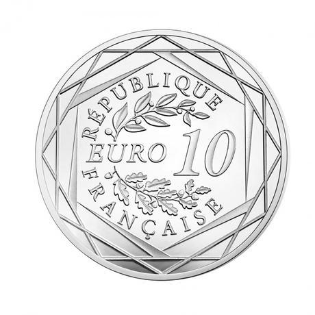 UEFA EB 2016 ezüst érme hátoldal
