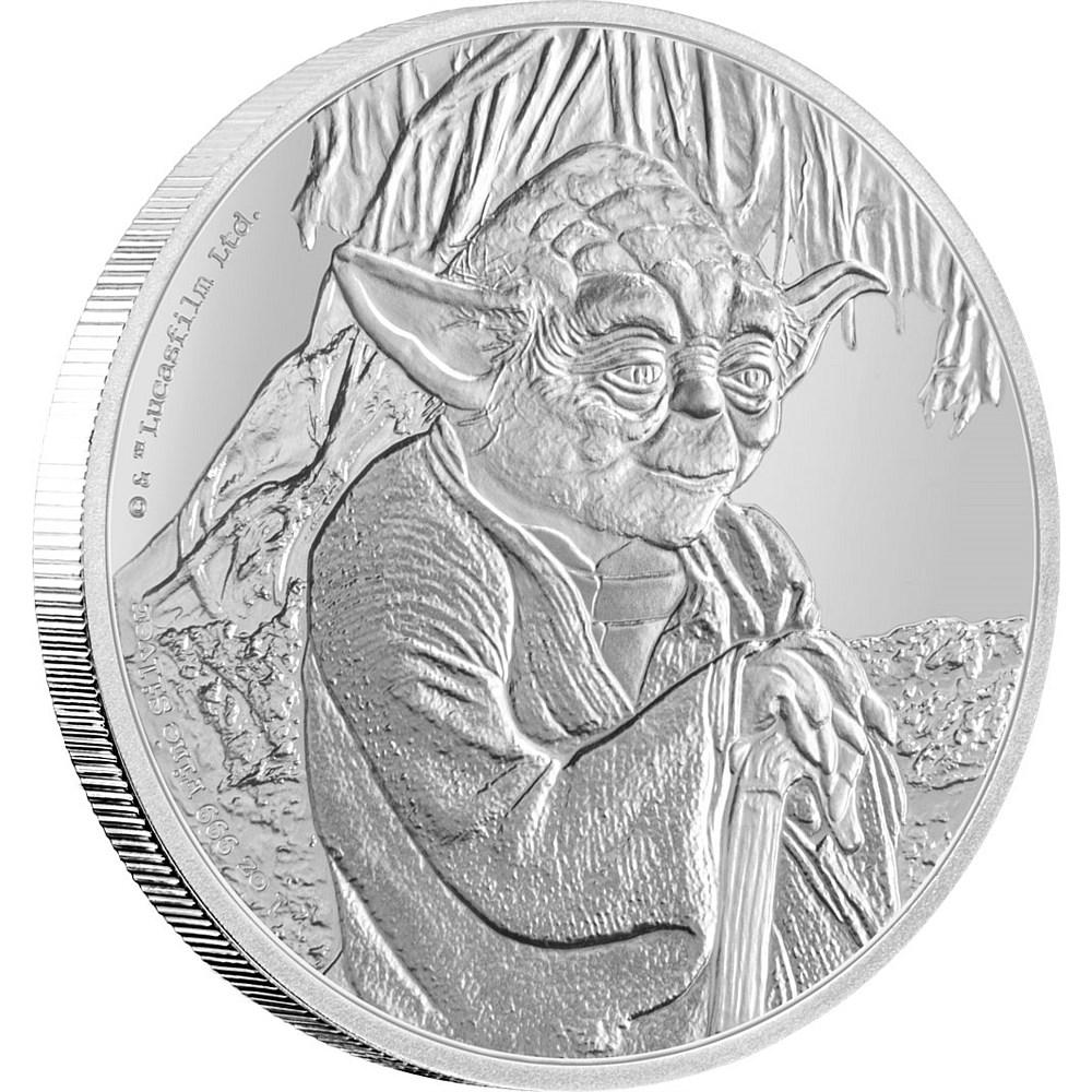 New-Zealandi_pénzverde, Yoda ezüst 2016, 1 uncia