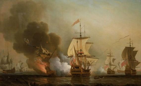 Korabeli festmény a csatáról