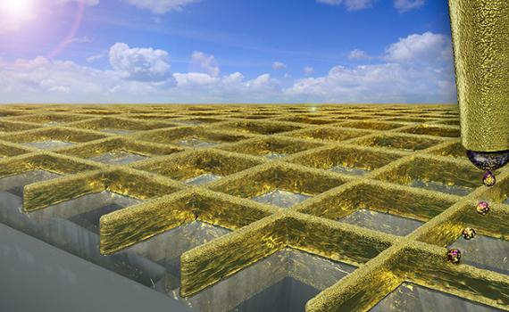 Aranyfal az üveglapon