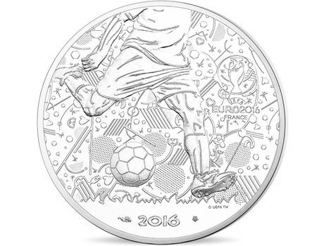 UEFA EB 2016 ezüst érme előlap