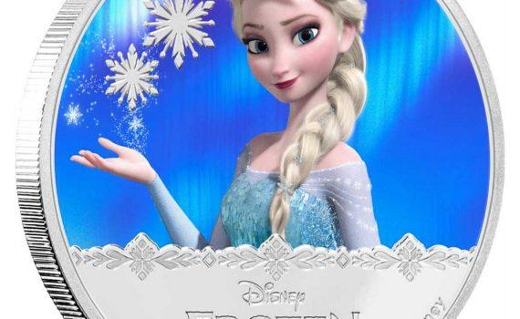 Elza hercegnő a jégvarázsból, színezüst érme